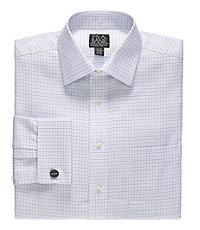 Signature Self Collar French Cuff Dress Shirt Big and Tall Sizes