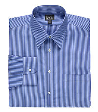 Traveler Wrinkle Free Slim Fit Point Collar Dress Shirt Big and $70.00 AT vintagedancer.com