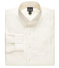 Traveler Pinpoint Solid Long-Sleeve Buttondown Dress Shirt Big and Tall
