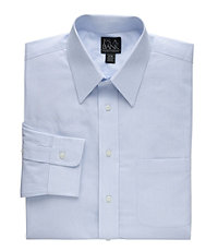 Traveler Point Collar Slim Fit Patterned Dress Shirt Big and Tall