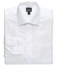 Signature Wrinkle-Free Spread Collar Tailored Fit Dress Shirt Big and Tall