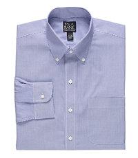 Traveler Slim Fit Stripe Buttondown Dress Shirt Big and Tall