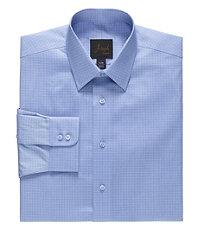 Joseph Spread Collar Slim Fit Plaid Dress Shirt Big and Tall