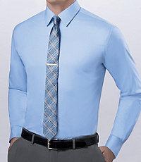 Joseph Spread Collar Slim Fit Solid Dress Shirt Big and Tall