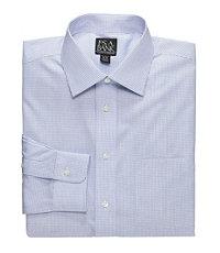Traveler Slim Fit Long-Sleeve Point Collar Dress Shirt Big and Tall