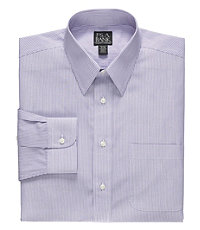 Traveler Tailored Fit Point Collar Stripe Dress Shirt Big and Tall