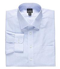 Traveler Spread Collar Check Dress Shirt Big and Tall