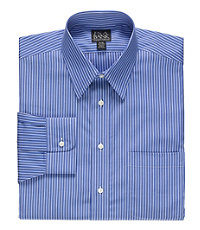 Traveler Point Collar Stripe Dress Shirt Big and Tall