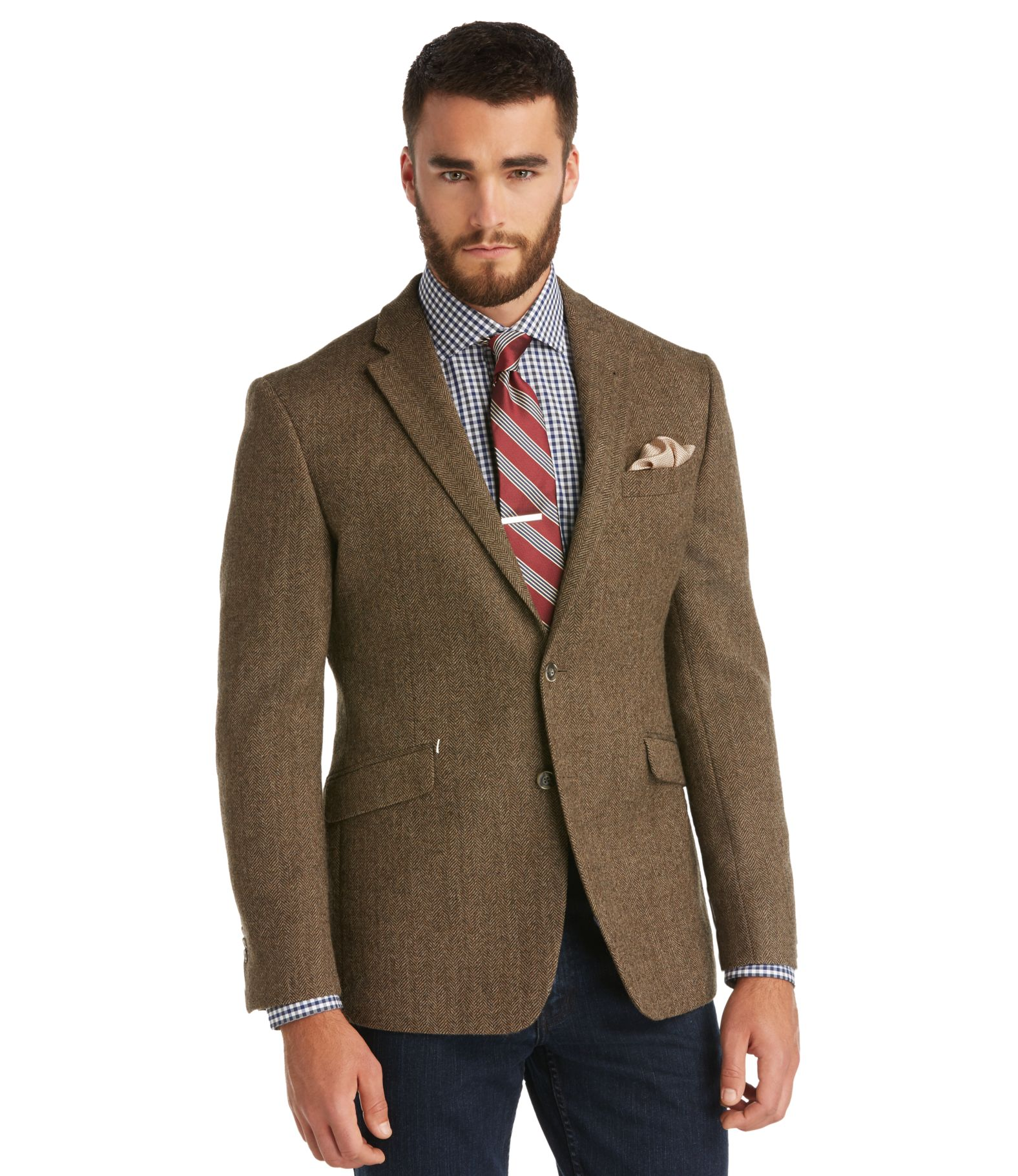 1905 Collection Tailored Fit Herringbone Sportcoat CLEARANCE ...
