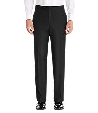 Executive Collection Traditional Fit Flat Front Tuxedo Separate Pants