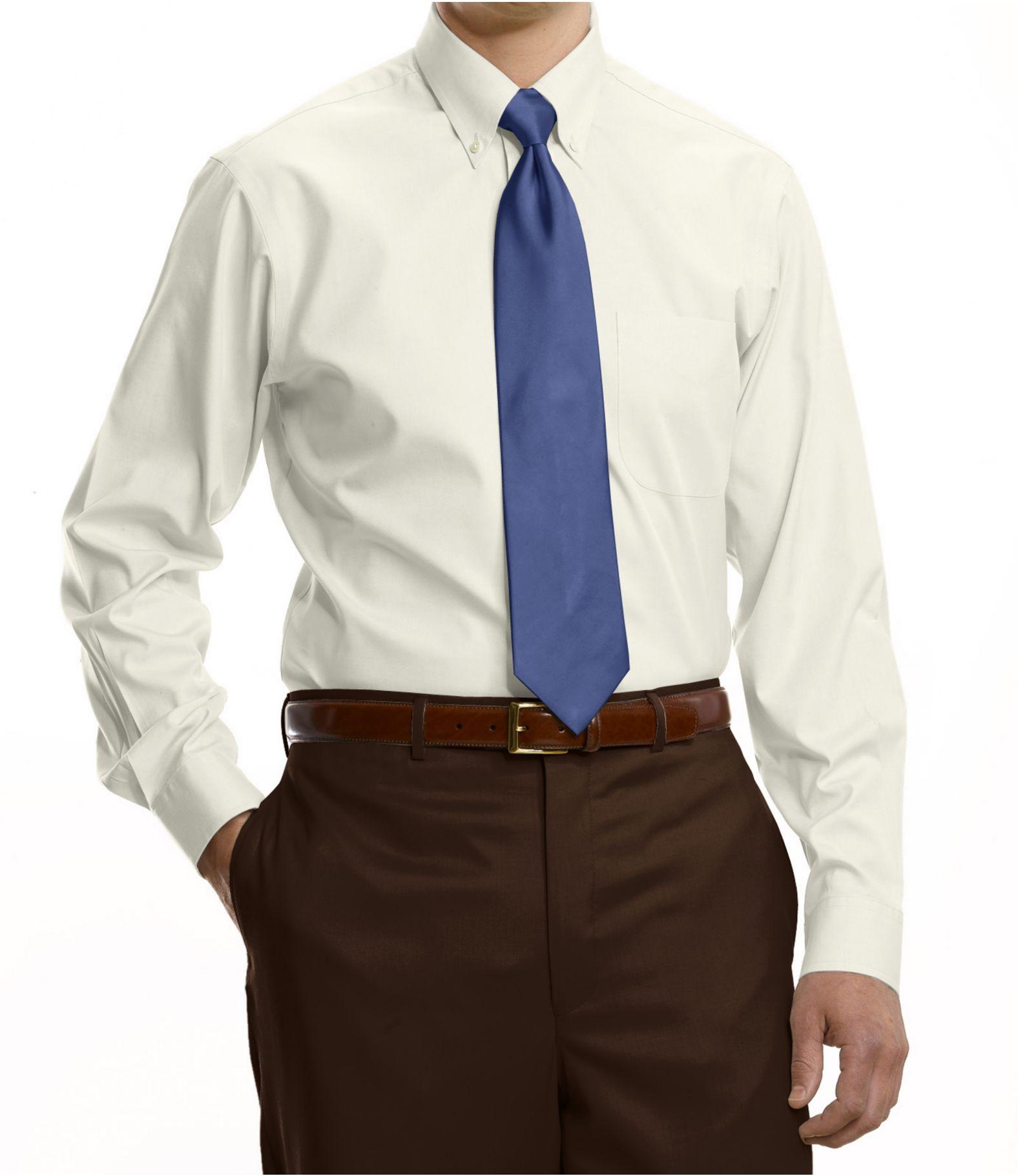 Traveler Collection Tailored Fit Button-Down Collar Dress Shirt ...
