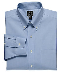 Traveler Slim Fit Button Down Dress Shirt Big and Tall Sizes $70.00 AT vintagedancer.com