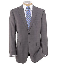 Traveler Tailored Fit 2-Button Suits Plain Front Trousers Big and Tall