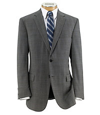 Traveler Tailored 2-Button Plain Front Suit Big and Tall Sizes