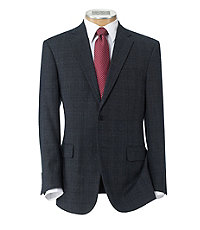 Traveler Tailored Fit 2 Button Suit with Plain Front Trousers Big and Tall