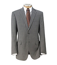 Traveler Tailored Fit 2-Button Suit with Plain Trousers Big and Tall