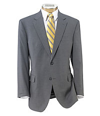 Executive 2-Button Wool Suit with Plain Front Trousers Big and Tall