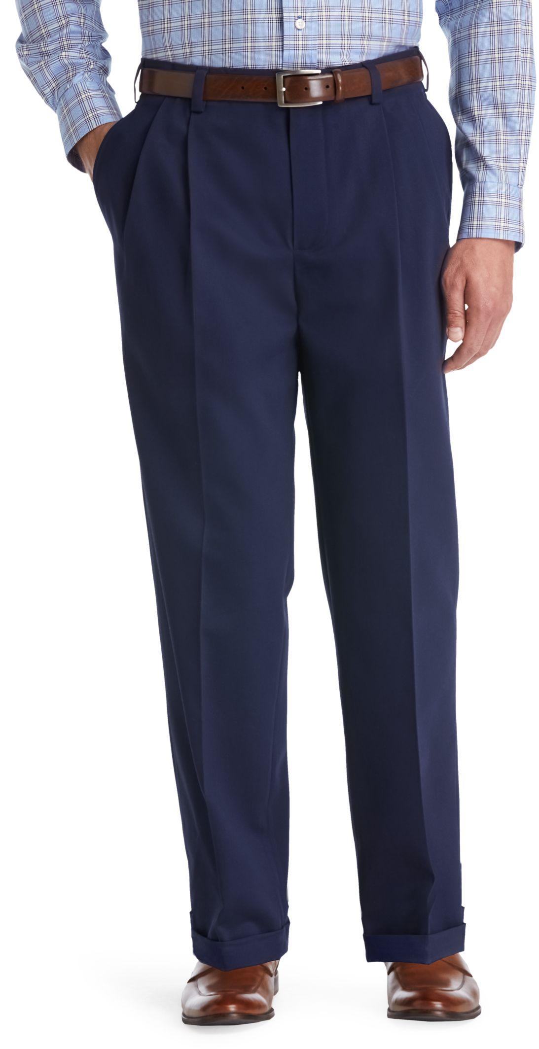 Slim Fit Pleated Pants