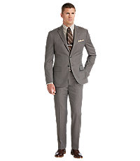 Joseph Abboud 2 Button Wool Slim Fit Suit with Plain Front Pant Big and Tall