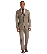 Joseph Abboud 2 Button Wool Tailored Fit Suit with Plain Front Pant
