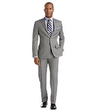 Joseph Abboud 2 Button Wool Slim Fit Suit with Plain Pant Big/Tall
