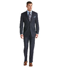 Joseph Abboud 2 Button Wool Tailored Fit Suit with Plain Pant Big/Tall