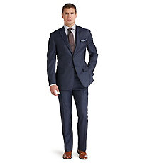 Joseph Abboud 2 Button Wool Slim Fit Suit with Plain Front Big/Tall