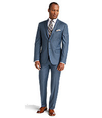 Joseph Abboud 2 Button Wool Slim Fit Suit with Plain Front Pant