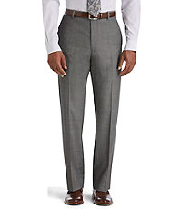 Joseph Abboud Tailored Fit Plain Front Grey Sharkskin Suit Separate Trousers  Big and Tall