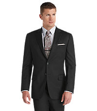 Joseph Abboud 2 Button Tailored Fit Black Suit Separate Jacket Big and Tall