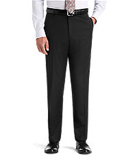 Joseph Abboud Plain Front Tailored Fit  Black Suit Separate Trousers Big and Tall