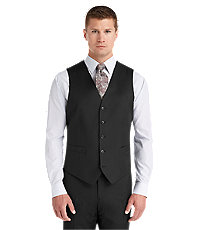 Joseph Abboud Tailored Fit Black Suit Separate Vest Big and Tall Sizes