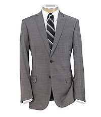 Traveler Slim Fit 2-Button Suits with Plain Front Trousers Big/Tall