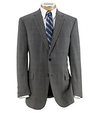 Traveler Tailored 2-Button Plain Front Suit Big/Tall