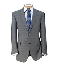 Signature 2-Button Tailored Fit Wool Suit Big/Tall