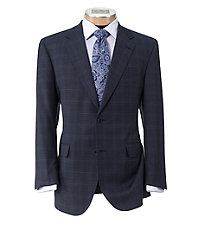 Signature Gold 2-Button Superfine Wool Suit with Pleated Trousers Big and Tall
