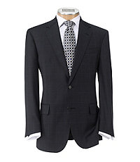 Signature Gold 2-Button Superfine Wool Suit with Pleated Pants Big/Tall