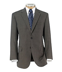 Executive 2-Button Wool Suit with Pleat Front Trousers Big and Tall