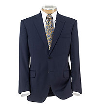 Signature 2-Button Wool Suit With Plain Front Trousers Big and Tall