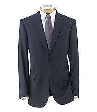 Traveler Slim Fit 2-Button Suits with Plain Front Trousers Big and Tall