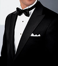 Signature Peak-Lapel Tuxedo BigTall CLEARANCE by JoS. A. Bank - 48 Long Black $268.00 AT vintagedancer.com