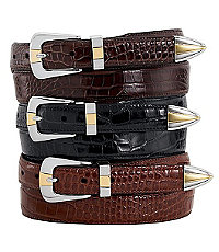 Embossed Moc Gator Belt Big and Tall