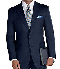Executive 2-Button Wool Suit with Plain Front Trousers Big/Tall