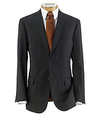 Executive 2-Button Wool Suit with Pleated Front Trousers Big/Tall