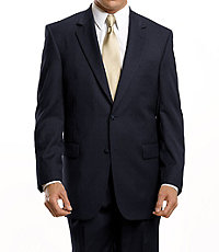 Signature 2-Button Wool Suit with Pleated Trousers Big/Tall