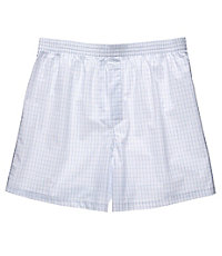 Large Grid Patterned Boxers Big/Tall