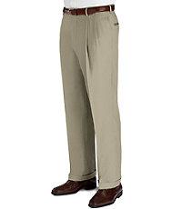 Signature Wool Gabardine Pleated Trouser BigTall $255.00 AT vintagedancer.com