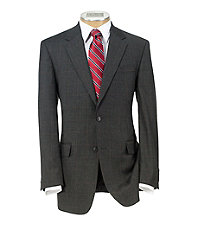 Executive 2-Button Wool/Cashmere Suit with Plain Front Pants Big and Tall