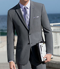 Joseph Slim Fit 2-Button Suits with Plain Front Trousers Big and Tall