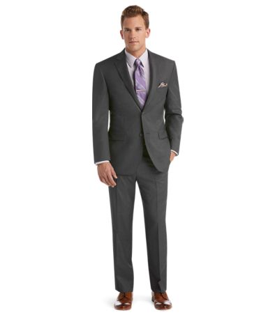 Jos. A. Bank Traveler Collection Regal Fit Suit (Dark Grey)